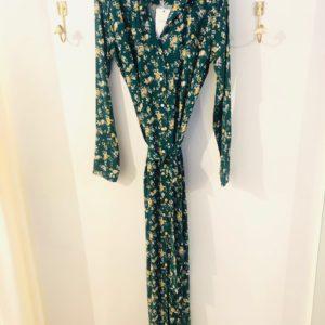 Abby green flowerprint dress
