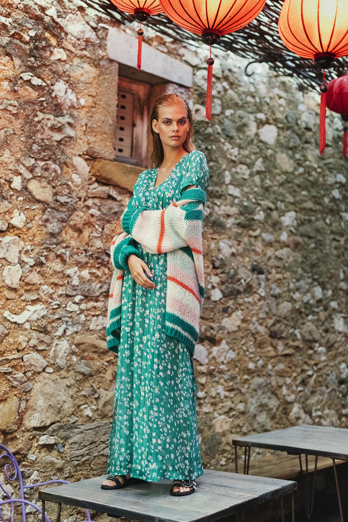 Lange jurk Kimono