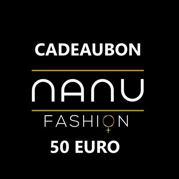 Cadeaubon webshop 50 euro