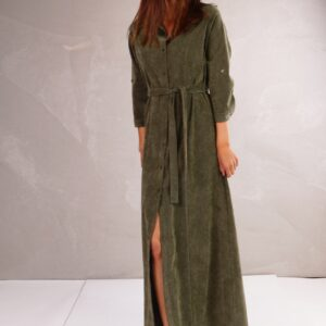 Danny midi dress corduroy kaki