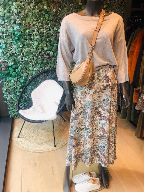 Skirt Floral ecru