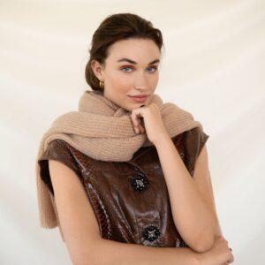 scarf Jille notebook brown