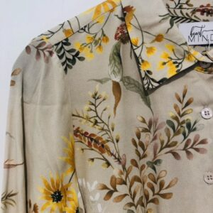 Beck blouse flower cognac