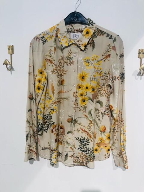 Beck blouse flower cognac