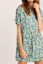 Nova green flower dress