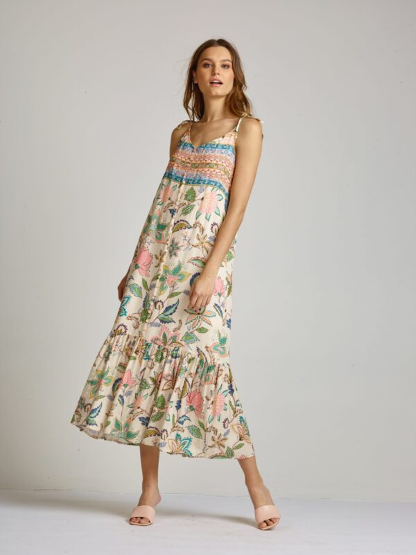 Dundee dress floral pastel