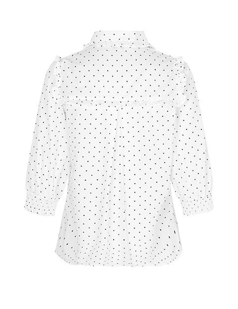 Petal blouse eletra print