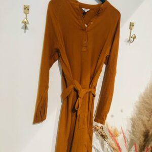 Delmore dress pumpkin