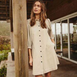 Eleina ribfluweel dress