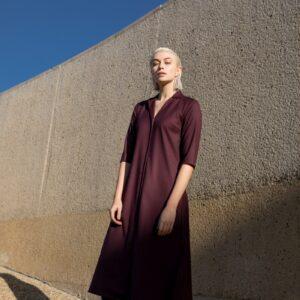 Clara dress burgundi